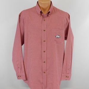 Arkansas Razorbacks long sleeve button sown shirt.  XL